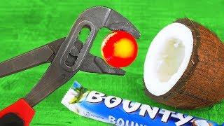 GLOWING 1000 DEGREE Metal Ball VS Coconut   8 Crazy Experiments
