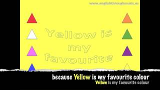Colors Song - Yellow - Songs for children