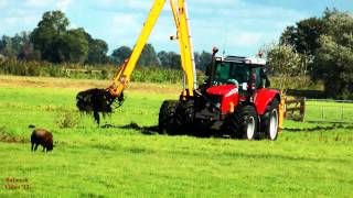 Ditch-Cleaning with MF 7480.