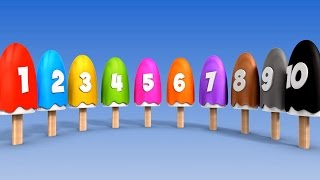 Learn Numbers with Number Ice Cream Popsicles Song | Numbers Songs for Children