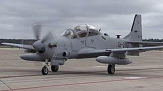 A29 Super Tucano Arrives at Moody Air Force Base for Afghanistan Air Force Training 81st Fighter Sq