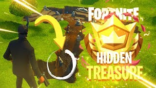 HIDDEN UMBRELLA TREASURE CHALLENGE - Fortnite: Battle Royale