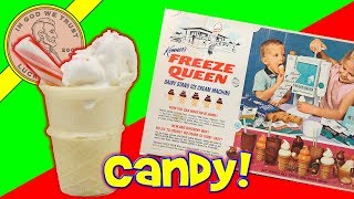 Vintage 1966 Freeze Queen Ice Cream Maker - Christmas Candy Cane Ice Cream