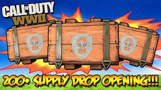 *NEW* 200+ WW2 SUPPLY DROP OPENING!!! (Call of Duty WW2 Multiplayer Weapons)