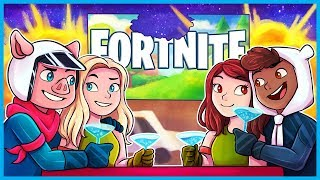 PLAYING WITH OUR GIRLFRIENDS in Fortnite: Battle Royale! (Fortnite Datenite Funny Moments)