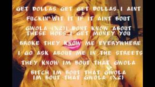 Honey Cocaine - Gwola ft Kid Ink & Maino LYRICS VIDEO
