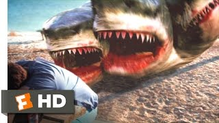 3 Headed Shark Attack (1/10) Movie CLIP - Get Out of the Water (2015) HD