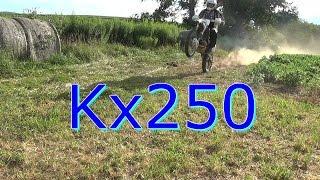 Kawasaki KX250 Wide Open Throttle!