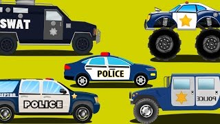 police cars | emergency vehicles | kids car cartoons