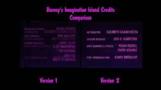 Barney's Imagination Island Credits Comparison