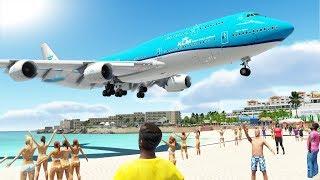DANGEROUS PLANESPOTTING!! Saint Maarten Princess Juliana International Airport (TNCM) | X-Plane 11