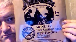 Maple flavored pork sausage patty MRE (Complete Military MRE review)