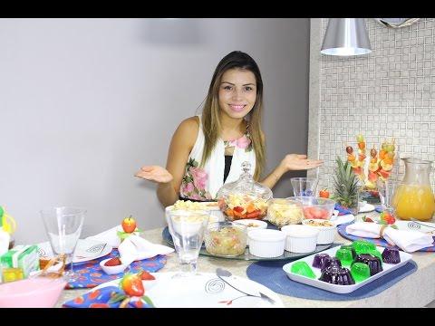 Como servir Como fazer Salada de frutas Mesa Posta Paloma Soares