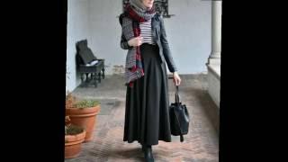 لعشاق اللبس الشتوى موضة شتاء 2017 hijab winter fashion