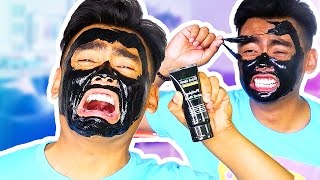 PAINFUL FACE MASK PEEL OFF CHALLENGE!
