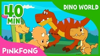 Dino World | T-Rex and more  | +Compilation | Dinosaur Musical | Pinkfong Stories for Children