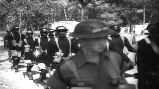 Belgian refugees cross over into Rhodesia to escape the adverse effects of crisis...HD Stock Footage