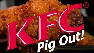 ASMR: Eating KFC's Nashville Hot Chicken #2 (No talking, Pig out!)