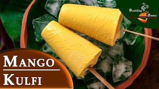 Mango Kulfi in 5 minutes | No Cook No Churn Mango Ice cream | Eggless Ice cream No Bread/Cornflour