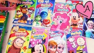Video de colorear personajes de Patrulla Canina, Intensamente, MLP, Frozen, Snoopy, Mickey y Minnie