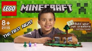 LEGO MINECRAFT - Set 21115 THE FIRST NIGHT - Unboxing, Review, Time-Lapse Build