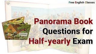 Panorama Questions of English of Class 12 for Half Yearly Exam