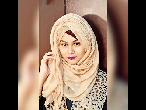 Simple Volume Layered Hijab Tutorial by Tabassum