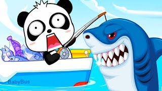 Baby Panda Happy Fishing - Baby Explore The Sea & Learn About Sea Animals - Babybus Fun Kids Games