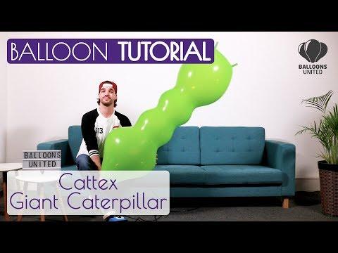 CATTEX GIANT CATERPILLAR –BALLOON TUTORIAL EN DE