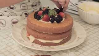 A Bia na Cozinha - Como fazer um naked cake
