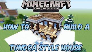 Minecraft Xbox One Tundra Style House Build Tutorial