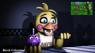 SFM| Toy Chica Reacts to FNAF World Teaser Trailer| HD