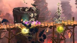 Rayman Legends - Castle Rock Gameplay Footage [EUROPE]