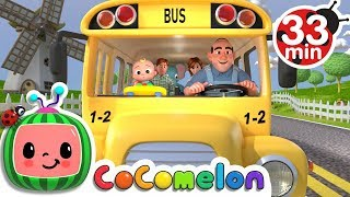 Wheels on the Bus | +More Nursery Rhymes & Kids Songs - Cocomelon (ABCkidTV)