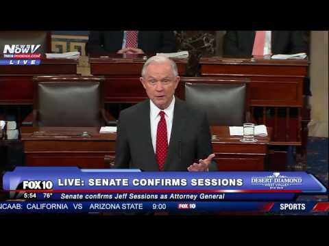 FULL Jeff Sessions Speech After Senate Confirmation For US Attorney General FNN