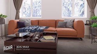 3Ds Max 2018 Vray 3.6 Interior Sofa Tutorial + Photoshop