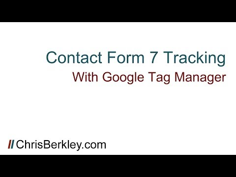 Contact Form 7 Conversion Tracking with Google Tag Manager