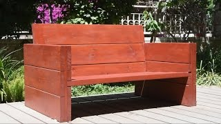 Bulding A Garden Bench - woodworking