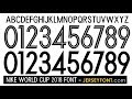 Nike world cup 2018 font free download