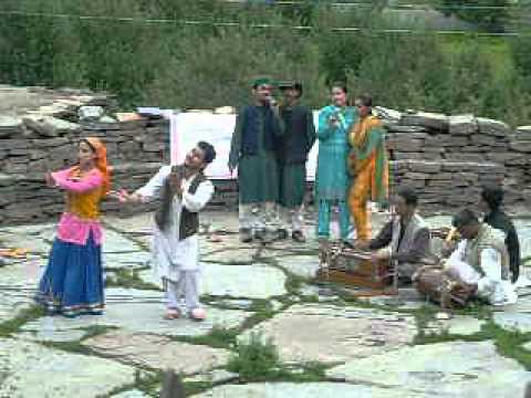 Singing Pahari song in Kalpa, Himachal Pradesh, India