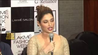 Tamanna Bhatia walks the ramp for Neeta Lulla's Lakmé Salon Bridal Show | LFW 2015
