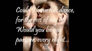 Could I Have This Dance (lyrics)
