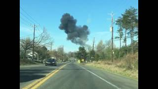 Aftermath Jet Crash in Clinton,  Md.