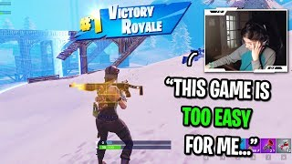 I got CARRIED by the BEST 13 year old Fortnite pro player... (GET HIM ON A PRO TEAM!)