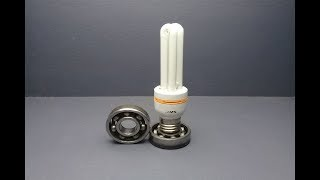Electric free energy 220v light bulb  with magnets new technology idea