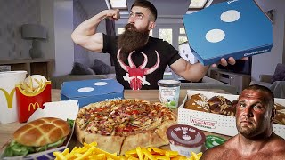 THE TERRY HOLLANDS 10,000 CALORIE STRONGMAN CHEAT MEAL CHALLENGE | BeardMeatsFood