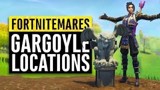 Fortnite | Gargoyle Location Guide (Dance In Front Of Gargoyles)