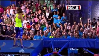 Annie Dudek on American Ninja Warrior