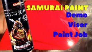 SAMURAI PAINT Signal Red 23 !!! Visor Paint Job