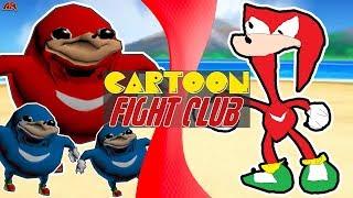 UGANDAN KNUCKLES vs KNACKLES! (Uganda knuckles Animation Meme) | CARTOON FIGHT CLUB!
